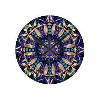 Zodiac Sign Sagittarius Mandala Wallclocks