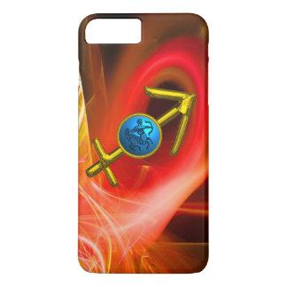ZODIAC SIGN SAGITTARIUS,Red Yellow Fractal Swirls iPhone 7 Plus Case