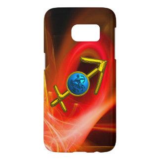 ZODIAC SIGN SAGITTARIUS,Red Yellow Fractal Swirls Samsung Galaxy S7 Case