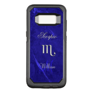 Zodiac Sign Scorpio Blue Monogram Otterbox Case