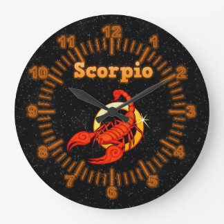 Zodiac sign Scorpio Large Clock