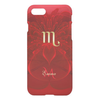 Zodiac Sign Scorpio Red Lace Fractal Monogram iPhone 7 Case