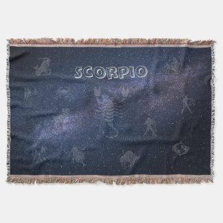 Zodiac sign Scorpio Throw Blanket
