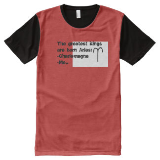 Zodiac sign T shirts: Aries All-Over-Print T-Shirt