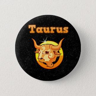 Zodiac sign Taurus 2 Inch Round Button