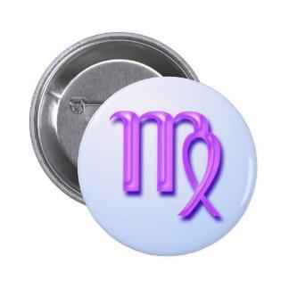 Zodiac sign Virgo 2 Inch Round Button