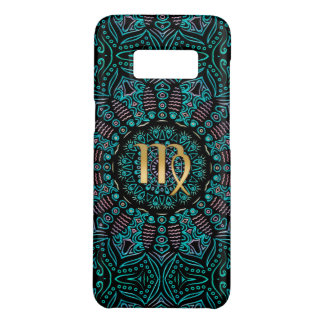 Zodiac Sign Virgo Green Mandala Case-Mate Samsung Galaxy S8 Case