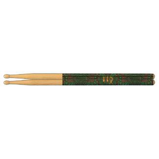 Zodiac Sign Virgo Green Mandala Drumsticks