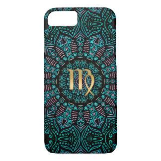 Zodiac Sign Virgo Green Mandala iPhone 7 Case