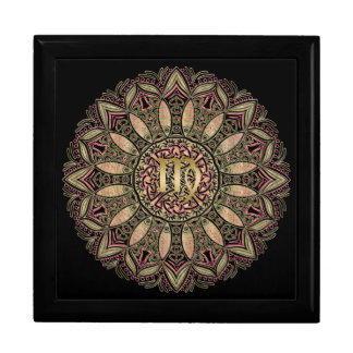 Zodiac Sign Virgo Mandala Earth Tones Gift Box