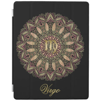 Zodiac Sign Virgo Mandala Earth Tones iPad Cover