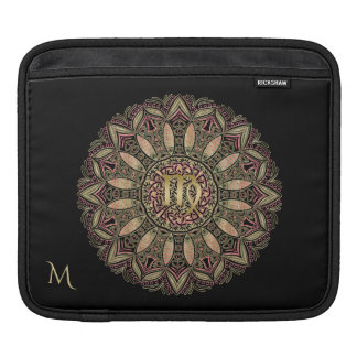 Zodiac Sign Virgo Mandala Earth Tones iPad Sleeve