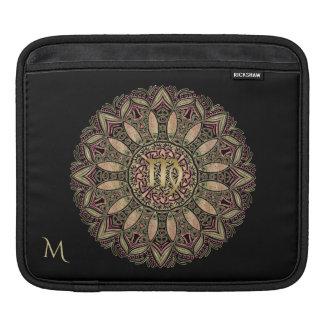 Zodiac Sign Virgo Mandala Earth Tones iPad Sleeve