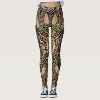 Zodiac Sign Virgo Mandala Earth Tones Leggings