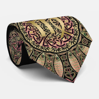 Zodiac Sign Virgo Mandala Earth Tones Tie