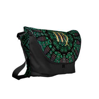 Zodiac Sign Virgo Mandala Messenger Bags