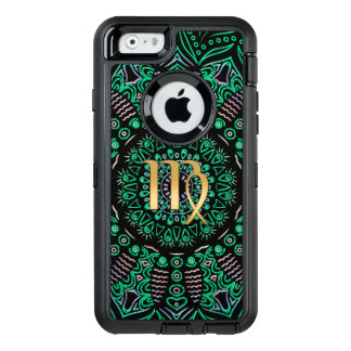 Zodiac Sign Virgo Mandala OtterBox Defender iPhone Case
