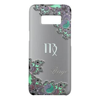 Zodiac Sign Virgo Silver Fractal Yin Yang Case-Mate Samsung Galaxy S8 Case