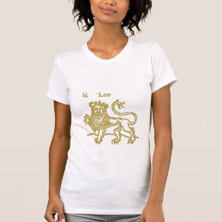Zodiac Sign White  Leo  t-shirt