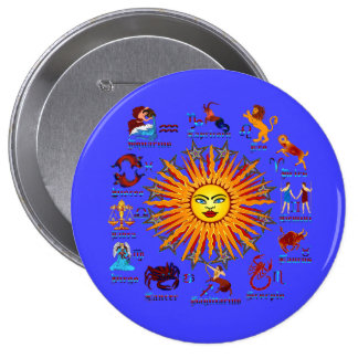 Zodiac-Signs-All-V-1 4 Inch Round Button