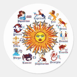 Zodiac-Signs-All-V-1 Classic Round Sticker