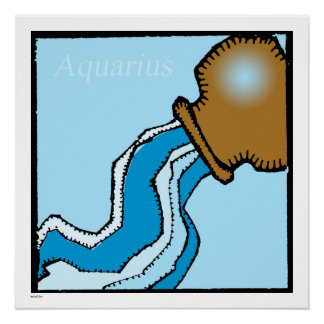 Zodiac Signs Aquarius Birthday Perfect Poster 20