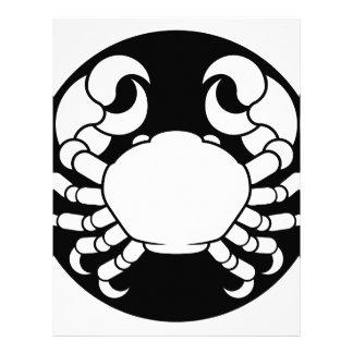 Zodiac Signs Cancer Crab Letterhead