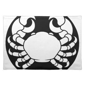 Zodiac Signs Cancer Crab Placemat