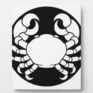 Zodiac Signs Cancer Crab Plaque