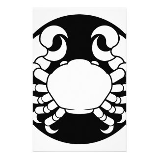 Zodiac Signs Cancer Crab Stationery