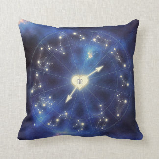 Zodiac Signs | Constellation Starry Night Couple's Throw Pillow