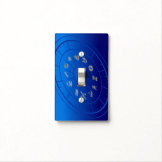Zodiac signs light switch cover