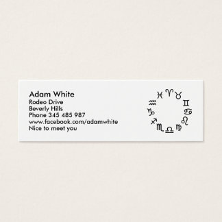 Zodiac signs mini business card