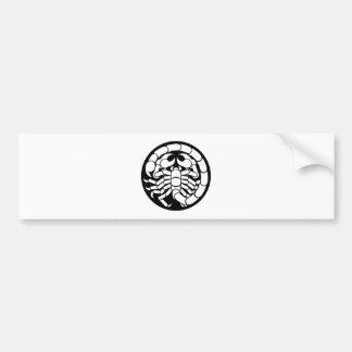 Zodiac Signs Scorpio Scorpion Icon Bumper Sticker