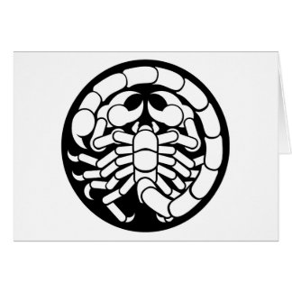 Zodiac Signs Scorpio Scorpion Icon Card