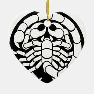 Zodiac Signs Scorpio Scorpion Icon Ceramic Ornament