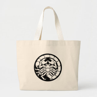 Zodiac Signs Scorpio Scorpion Icon Large Tote Bag