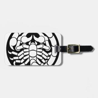 Zodiac Signs Scorpio Scorpion Icon Luggage Tag