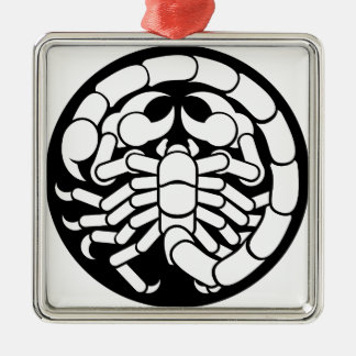 Zodiac Signs Scorpio Scorpion Icon Metal Ornament