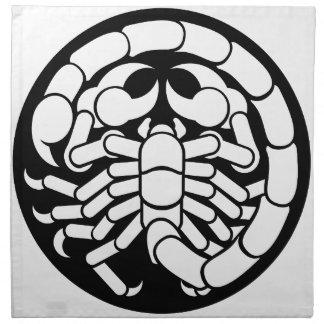 Zodiac Signs Scorpio Scorpion Icon Napkin