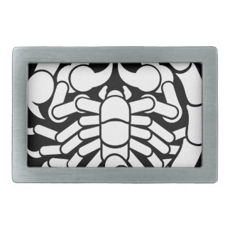 Zodiac Signs Scorpio Scorpion Icon Rectangular Belt Buckles