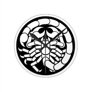 Zodiac Signs Scorpio Scorpion Icon Round Clock