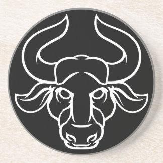 Zodiac Signs Taurus Bull Icon Coaster