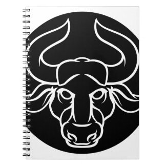 Zodiac Signs Taurus Bull Icon Notebook