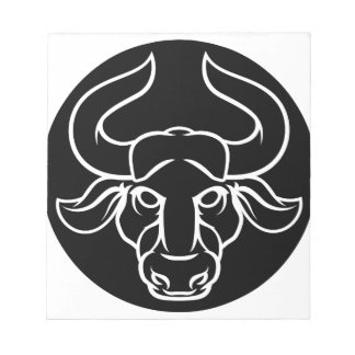Zodiac Signs Taurus Bull Icon Notepad
