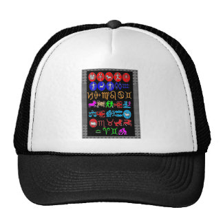ZODIAC symbols display -JUST FOR FUN GRAPHICS Trucker Hat