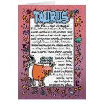 Zodiac - Taurus Fun Facts Greeting Card