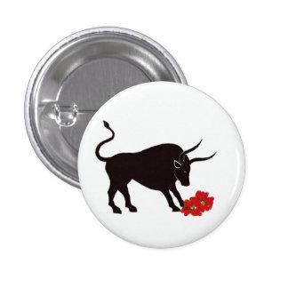 Zodiac Taurus Sign 1 Inch Round Button