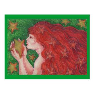 Zodiac Virgo postcard