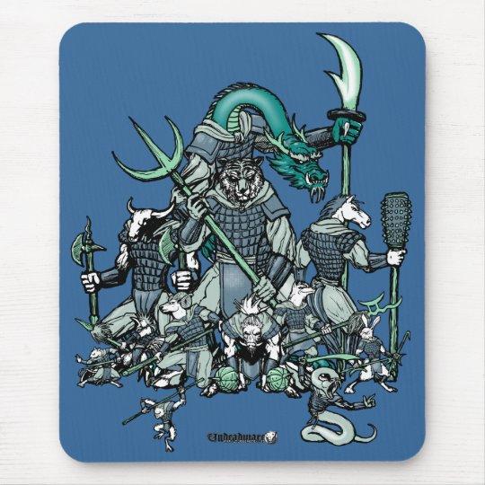 Zodiac Warriors Mouse Pad